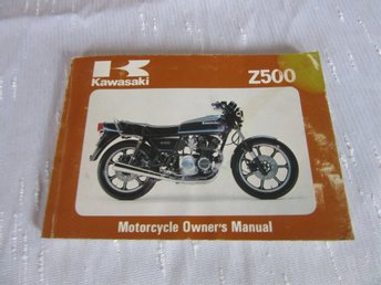 Kawasaki Z500 1980-81 Owners manual