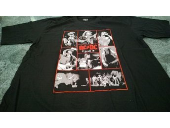 T-Shirt. Svart. Rock. AC/DC. Plug Me In. XL