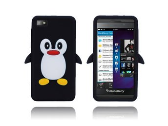 Penguin (Svart) BlackBerry Z10 Silikonskal