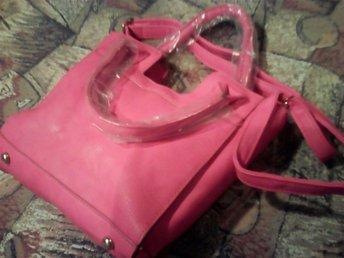 Damen väska, Clip Flap, Handbag, fuchsia, st. L, UK - Lövånger - Damen väska, Clip Flap, Handbag, fuchsia, st. L, UK - Lövånger