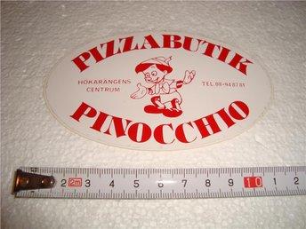 Pizza butik Pinocchio Hökarängen dekal klistermärke - Uppsala - Pizza butik Pinocchio Hökarängen dekal klistermärke - Uppsala