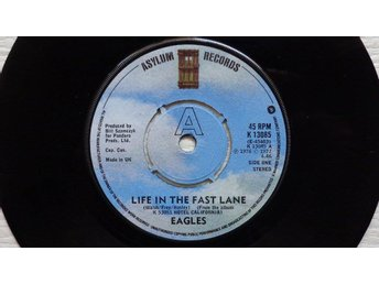 "EAGLES 'Life In The Fast Lane' 1976 UK 7"" - Bröndby - EAGLES 'Life In The Fast Lane' 1976 UK 7"" - Bröndby"