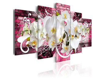 Tavla - Variation about the orchids 100x50