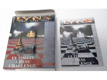 Atari Lynx Ultimate Chess Challenge Box Manual