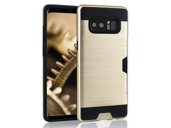 Skal till Samsung Galaxy Note 8 Brushed PC Fodral Skydd Guld Tunn Armor
