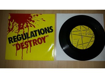 REGULATIONS - DESTROY MY FUTURE / WE´RE BLANK POLICECAR