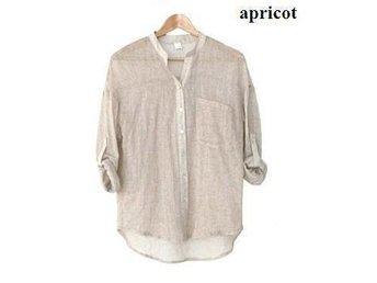 Womens linne skjorta apricot size XXL - Beijing - Womens linne skjorta apricot size XXL - Beijing