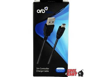 ORB Playstation 3 Controller Charge Cable 3m