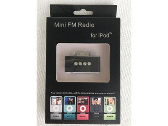 Mini FM radio för iPod (ej lightningkontakt)