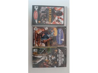 3 St PSP Spel Killzone + Råttatouille + Star Wars Battlefront 2