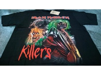 T-Shirt. Svart. Rock. Iron Maiden. Killers. XL