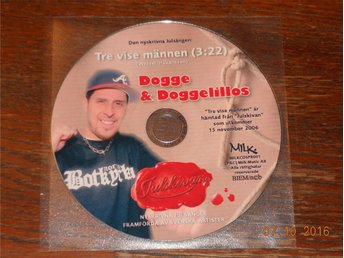 DOGGE & DOGGELILLOS - Tre vise männen, CD singel Promo MILK 2006 Latin Kings