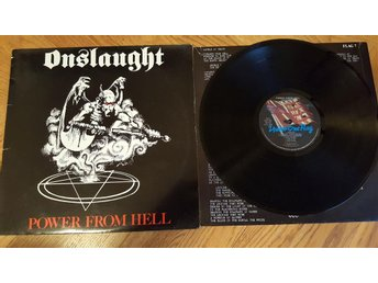 Onslaught - Power From Hell FLAG 7 UK 1986