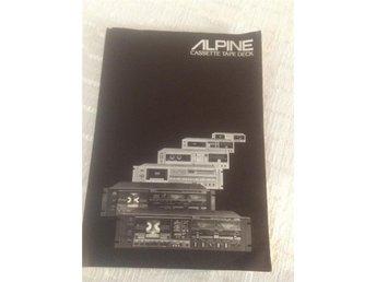 alpine cassette tape deck produkt broschyr 1983 HiFi Stereo - Tullinge - alpine cassette tape deck produkt broschyr 1983 HiFi Stereo - Tullinge