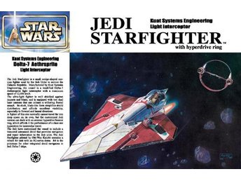 JEDI STARFIGHTER WITH HYPERDRIVE RING STAR WARS  FINEMOLDS 1/72 Byggsats