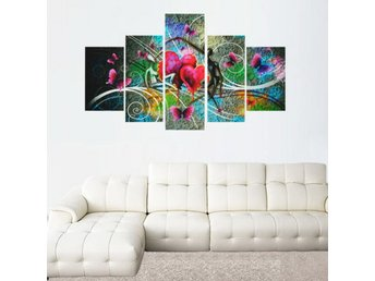 Frameless Canvas Print Abstract Dancing Lovers Modern Wal...