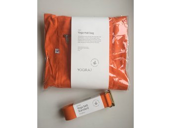 Yoga-kit orange Yogiraj mattväska + strap