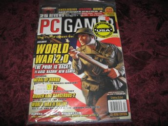 PC GAMER FEBRUARI 2001 (WORLD WAR 2.0) PÅ DEMO CD MECHWARRIOR 4 NY INPLASTAD