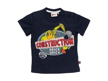 DUPLO T-SHIRT, 'CONSTRUCTION', MIDNATTSBLÅ (92)