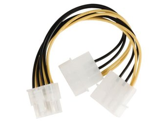 Valueline Intern Strömkabel EPS 8-Pin Male - 2x Molex Hane 0.15 m