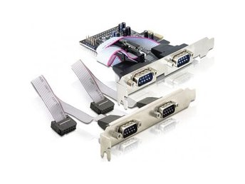 DeLOCK PCI-Express x1 kort, Seriell RS-232, 4xDB9ha