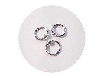 3 st Ball closure ring - BCR piercingsmycken