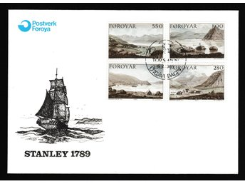 5 st FDC - Färöarna 1985, Stanley expedition