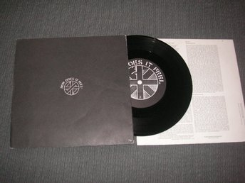 CRASS How does it feel + 2 45/ps 1982 Komplett poster sleeve o textpåse!!