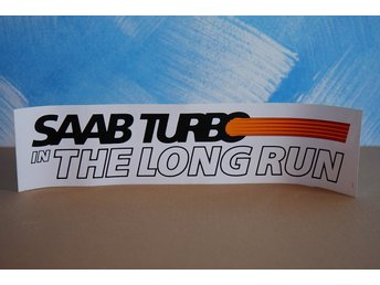 ORIGINAL SAAB DECAL - SAAB TURBO IN THE LONG RUN 1986 - V1