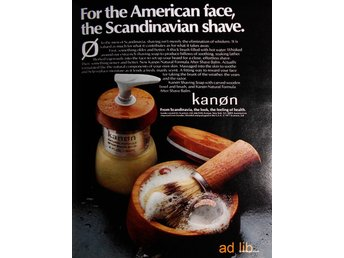 KANON - FOR THE SCANDINAVIAN SHAVE, TIDNINGSANNONS Retro 1978
