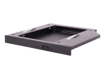 "DELTACO HDD caddy, 1x2,5"" max 12,5mm HDD i en 5,25"" slim plats, svart"