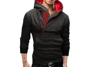 Javascript är inaktiverat. - New York - Assassins Creed Hoodies Men letter printed Sweatshirt Long Sleeve Slim Hooded Jacket Color: dark gray with red Size : 3XL made in Asian factory, it is much smaller in size, please check the last picture for your size choice. - New York