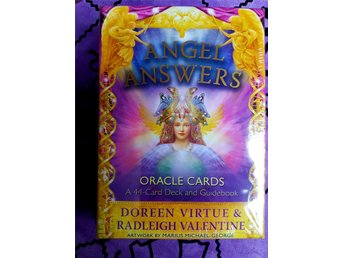 Angel Answers Oracle Cards av Doreen Virtue - NY INPLASTAD. Tarot New Age.