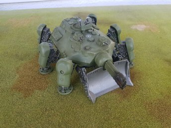Dust Tactics / 1947 - Allies Super-Heavy Walker (Fireball, Punisher)