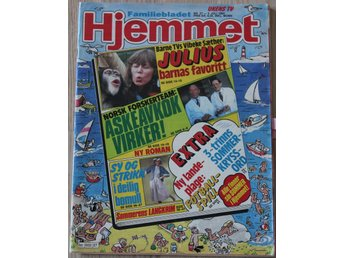 ABBA / Frida in Norwegian magazine Hjemmet 1984/27.