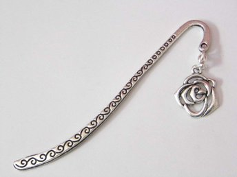 Rosa bokmärke / Rose bookmark