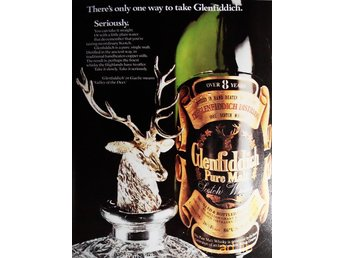 GLENFIDDICH SCOTCH, TIDNINGSANNONS Retro 1978