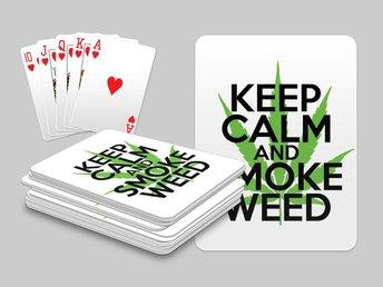 Keep Calm And Smoke Weed Kortlek Poker Texas Hold Em Spelkort - Kuala Lumpur - Keep Calm And Smoke Weed Kortlek Poker Texas Hold Em Spelkort - Kuala Lumpur