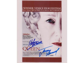 THE QUEEN - MINI POSTER HELEN MIRREN - JAMES CROMWELL PRE-PRINT AUTOGRAF FOTO
