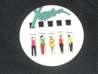 X-RAY SPEX - STOR Badge / Pin (KBD, Roxy, Germfree, Punk,)