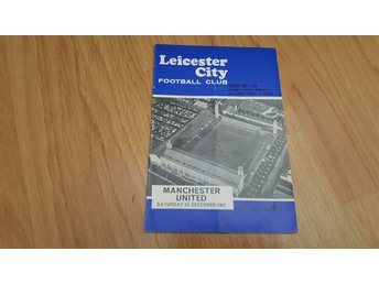 Program Leicester City v Manchester United 1967