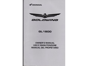 Honda Goldwing GL 1800 2008/2009 instruktionsbok