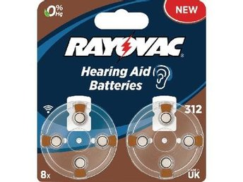 Rayovac Zink-Air Battery PR41 1.4 V 8-Blister