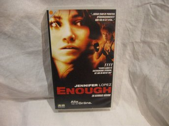 VHS Enough med Jennifer Lopes