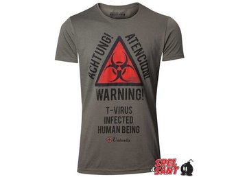 Resident Evil T-Virus Warning T-Shirt Grön (X-Large)