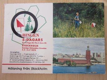 O - ringen femdagars 1975 skrivet (I5) - Stockholm - O - ringen femdagars 1975 skrivet (I5) - Stockholm