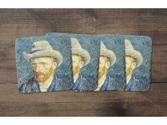 Vincent Van Gogh Self Portrait With Grey Felt Hat Coasters 4 Pack Underlägg