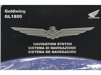 Honda Goldwing GL 1800 navigation  instruktionsbok