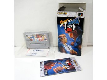 Street Fighter Zero 2 ( Alpha ) med box till japanskt SFC super famicom