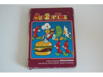 Burger Time / Burgertime - Komplett MED OVANLIG SVENSK MANUAL - Intellivision